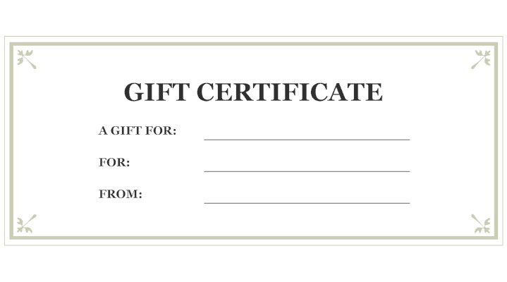 Gift certificate store credit hacker warehouse for Free printable hair salon gift certificate template